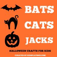 Halloween Crafts Kids Bat Cat
