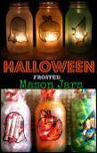 Halloween Frosted Mason Jars Crafty Spot Life