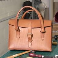 Hand Stitched Ladies Leather Handbag