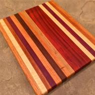 Handcrafted Wood Cutting Board Red Oak Curly Maple