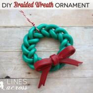 Handmade Braided Wreath Ornament Lines Across