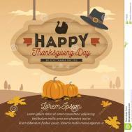 Happy Thanksgiving Card Design Stock Vector