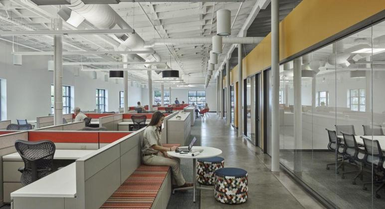 Hok Converted Warehouse Office Space Tyson Foods