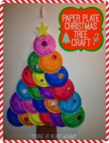 Holiday Craft Painted Paper Plate Christmas Tree Young