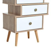 Homcom Trendy Accent Chest Offset Storage Drawers