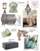 Home Design Inspiration Board Green Peach Gray