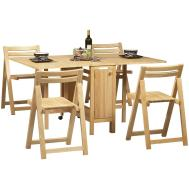 Home Design Nice Space Saving Round Dining Table Room