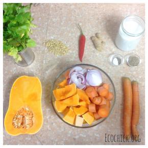 Homemade Autumn Vegan Pumpkin Soup