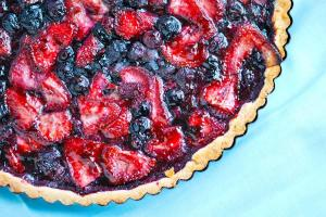 Homemade Blueberry Strawberry Tart Recipe