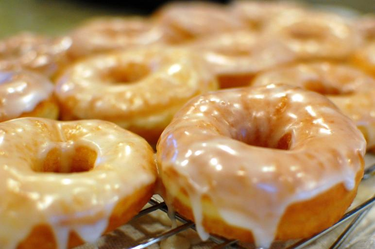 Homemade Glazed Doughnuts Recipe Dishmaps