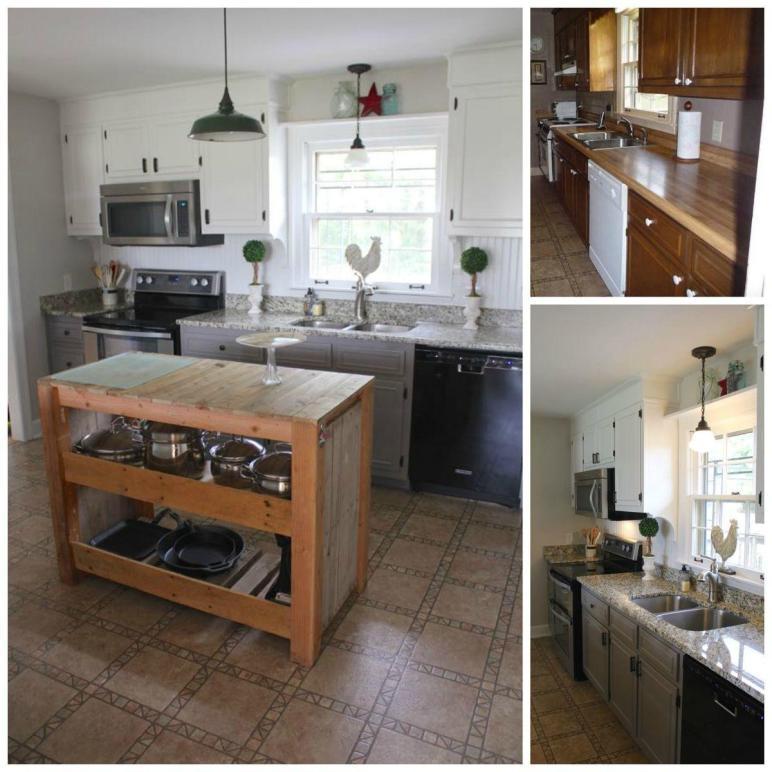 Hometalk Diy Farmhouse Kitchen Makeover 5000