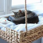 Hymns Verses Diy Hanging Window Basket Cat Perch