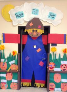 Ideas Fall Classroom Door Big Scarecrow