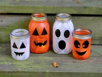 Ideas Halloween Decoration Mason Jars Impress
