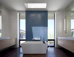 Idee Per Bagno Blu Bianco Design Abbinamento