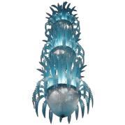 Imposing Waterfall Handblown Glass Chandelier Murano