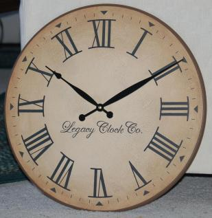 Inch Large Wall Clock Antique Rustic Tuscan Bigclockshop