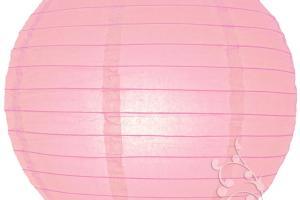 Inch Pink Even Round Paper Lantern