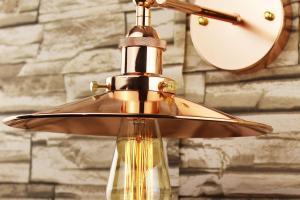Industrial Retro Vintage Copper Metal Lamp Shade Diy
