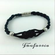 Infinity Knot Black Bracelet Braided Cord