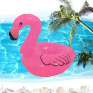 Inflatable Flamingo Drink Can Cell Phone Holder Stand