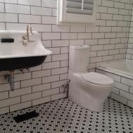 Innovative Wet Room Hexagon Tile Install