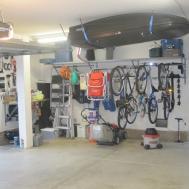 Interior Diy Overhead Garage Storage Rack Hanging