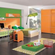Interior Ideas Awesome Kids Room Decor Orange Bunk