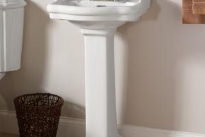 Interior Pedestal Sinks Small Bathrooms Outside