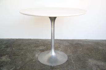 Iridium Interiors Round Tulip Table Aluminum Base