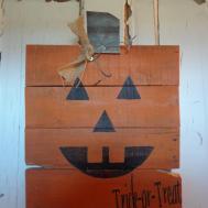 Jack Lantern Pumpkin Pallet Wood Sign Mckennamadeit2013