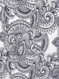 Jane Norman Paisley Print Tailored Blazer Jacket Gray
