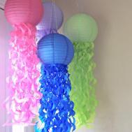 Jellyfish Paper Lanterns Set Createitgirl Etsy