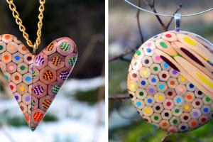 Jewelry Made Coloured Pencils Czech Artist Bored