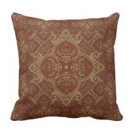 Kaleidoscope Kreations Rust Tapestry Pillow Zazzle