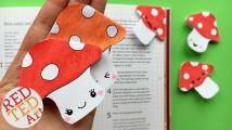 Kawaii Bookmark Corner Easy Mushroom Diy Cute