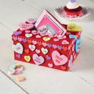 Kids Conversational Heart Valentine Day Card Box