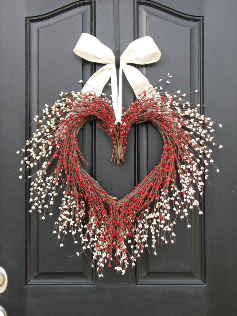 Kissing Wreath Door Wreaths Valentine Day