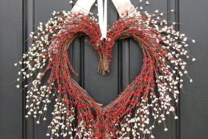 Kissing Wreath Door Wreaths Valentine Day