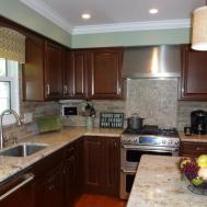 Kitchen Brick Backsplash Faux Veneer Pic