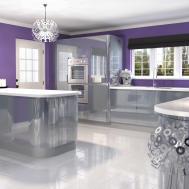 Kitchen Fabulous Purple Kitchens Blue