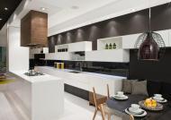 Kitchen Island Black Wall Breakfast Table Contemporary