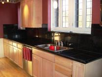 Kitchen Stainless Steel Countertops Black Cabinets