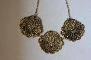 Labyrinth Accessories Lace Brass Necklace