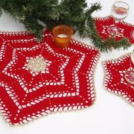 Lace Crochet Christmas Table Decoration