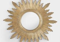 Large Antique Gold Leila Sunburst Mirror World Market