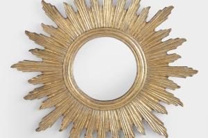 Large Antique Gold Leila Sunburst Mirror World Market