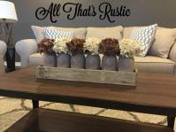 Large Mason Jar Centerpiece Table