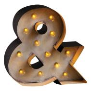 Large Retro Light Marquee Ampersand Sign Chairish