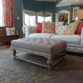 Lavishly Appointed Tufted Sofa Upholstery